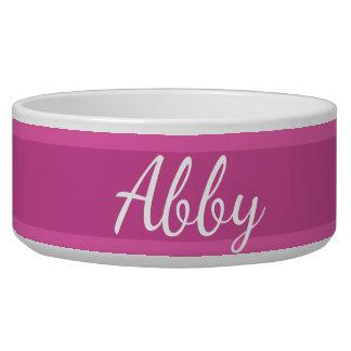 HAMbyWhiteGlove - Dog Food Bowl - Raspberry