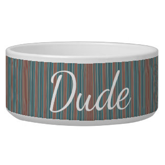 HAMbyWhiteGlove - Dog food Bowl - Teal & Rust