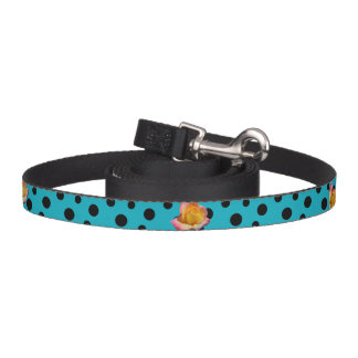 HAMbyWhiteGlove - Dog Leash - Black Polka Dots