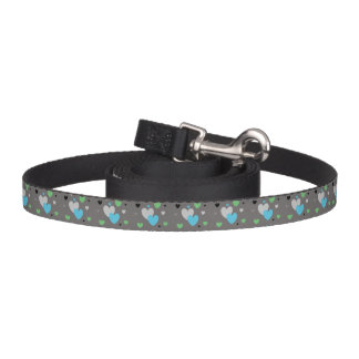 HAMbyWhiteGlove - Dog Leash- Gray Blue Green Black Pet Leash