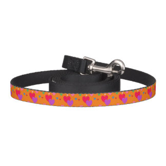HAMbyWhiteGlove - Dog Leash - Multi-Color Hearts