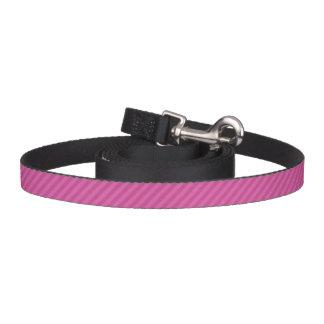 HAMbyWhiteGlove - Dog Leash - Pink Diagonal