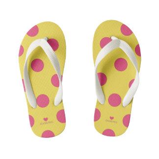 HAMbyWhiteGlove - Flip - Flops - Pink Polka Dots Kid's Flip Flops