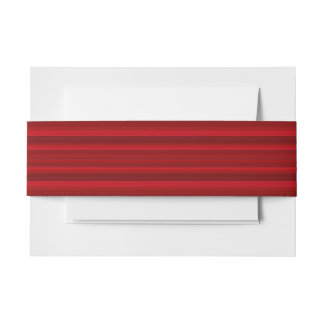 HAMbyWhiteGlove - Invitation Band - Rose Red Invitation Belly Band