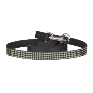 HAMbyWhiteGlove - Leash - Black Houndstooth