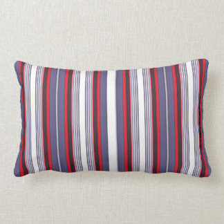 HAMbyWhiteGlove -  Lumbar - Red Mixed Fine Stripes Lumbar Pillow