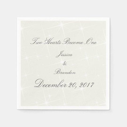 HAMbyWhiteGlove - Paper Napkin -  White Stars