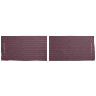 HAMbyWhiteGlove - Pillow Cases -  Plum W Cranberry Pillowcase
