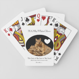 HAMbyWhiteGlove - Playing Cards - Squirrel w/Heart