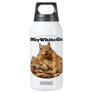 HambyWhiteGlove Squirrel - SIGG Thermo - White Insulated Water Bottle
