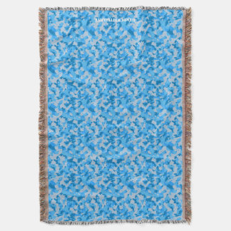 HAMbyWhiteGlove - Throw Blanket - Blue Camouflage