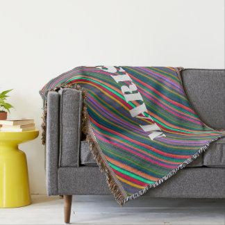 HAMbyWhiteGlove - Throw Blanket - Bright Diagonal