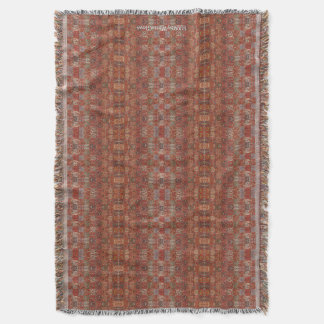 HAMbyWhiteGlove - Throw Blanket - Rust Bohemian