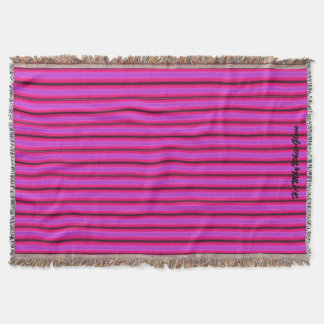 HAMbyWhiteGlove - Throw Blankets - Bright Pink