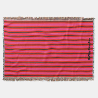 HAMbyWhiteGlove - Throw Blankets - Bright Red Pink