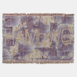 HAMbyWhiteGlove - Throw Blankets - Distressed