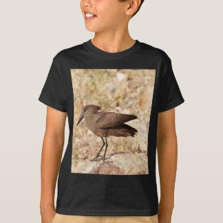 Hamerkop (Scopus umbretta) on a rock. T-Shirt