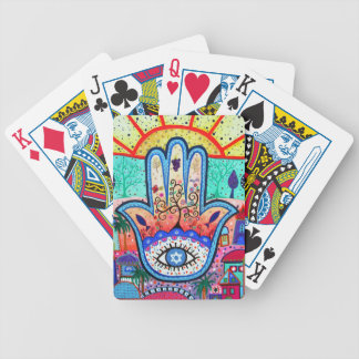 HAMESH Hamsa Hand by Prisarts Bicycle Playing Cards