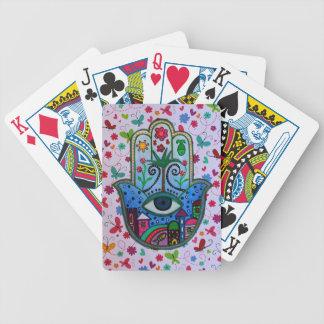 HAMESH Hamsa Hand by Prisarts Bicycle Playing Cards