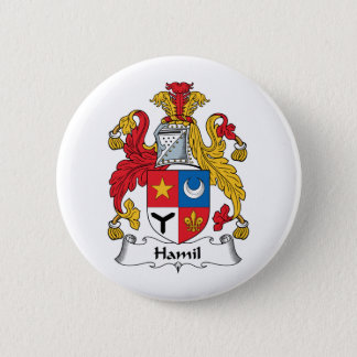 Hamil Family Crest 2 Inch Round Button