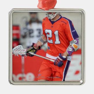 HAMILTON, CANADA - MAY 19:  Kevin Crowley #21 Silver-Colored Square Ornament