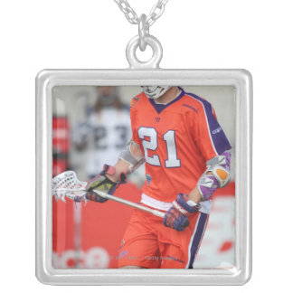 HAMILTON, CANADA - MAY 19:  Kevin Crowley #21 Silver Plated Necklace