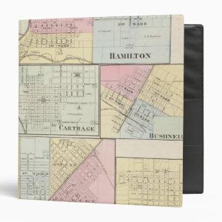 Hamilton, Carthage, Bushnell, Lincoln and LaHarpe Binder