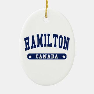 Hamilton Ceramic Ornament
