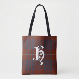 Hamilton Clan Tartan Monogram Tote Bag