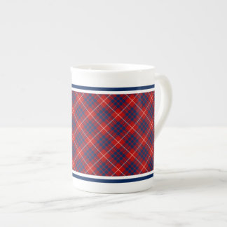 Hamilton Family Tartan Red and Royal Blue Plaid Tea Cup