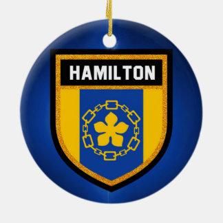 Hamilton Flag Ceramic Ornament