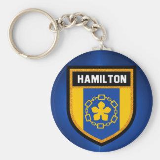 Hamilton Flag Keychain