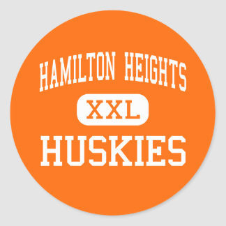 Hamilton Heights - Huskies - High - Arcadia Round Sticker