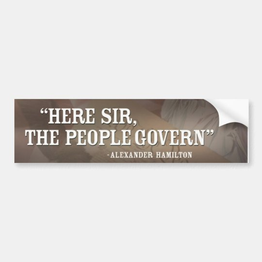 Hamilton-people govern bumper sticker