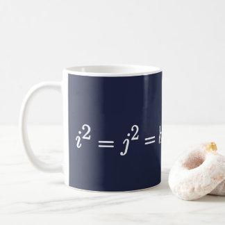 Hamilton Quaternion Formula Science and Math Mug