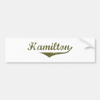 Hamilton Revolution t shirts Bumper Sticker