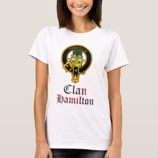 Hamilton scottish crest and tartan clan name T-Shirt