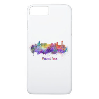 Hamilton skyline in watercolor iPhone 8 plus/7 plus case