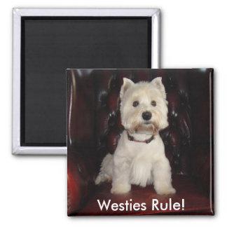 Hamish McTavish Westies Rule Fridge Magnet