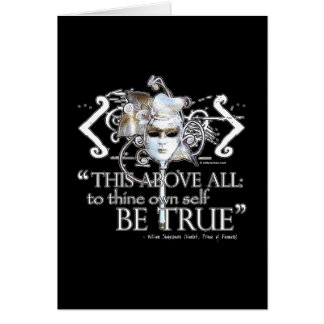 """Hamlet """"... own self be true ..."""" Quote Card"""