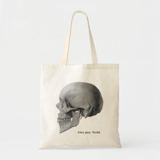 Hamlet Shakespeare skull poor Yorick book tote