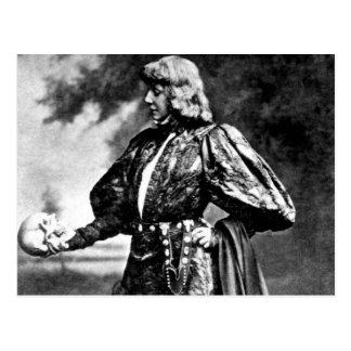 hamlet william shakespeare sarah baird 1899 skull postcard