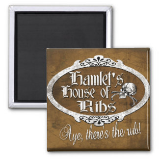 Hamlet's House of Ribs Magnet