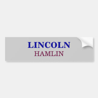 HAMLIN, LINCOLN BUMPER STICKER