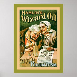Hamlin's Wizard Oil ~ Vintage Advertising Poster
