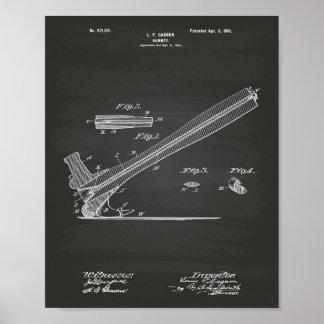 Hammer 1901 Patent Art Chalkboard Poster