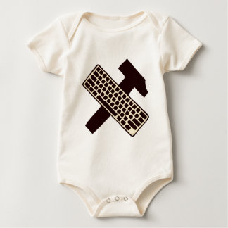 Hammer and keyboard baby bodysuit