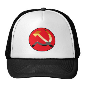 Hammer and Sickle Bear Pride Flag Colors Trucker Hat