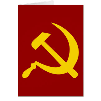 Hammer and Sickle Card
