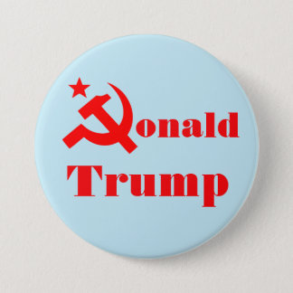 "Hammer and sickle ""Donald Trump"" 3 Inch Round Button"